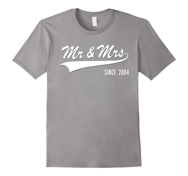13th Wedding Anniversary gift Mr and Mrs since 2004 Tshirt