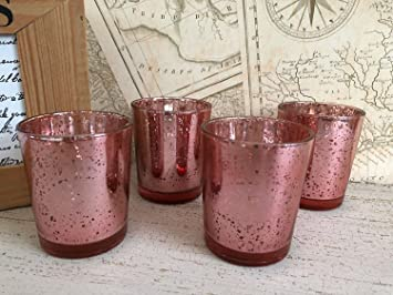 Set Von 4 Mercury Glas Teelicht Votiv Kerzenhalter Party Hochzeit