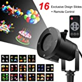 Birthday Light Projector with Remote Control, 2017 Newest Version 16 Slides Switchable Patterns Waterproof Dynamic Lighting Landscape Led Projector Light