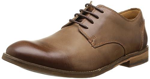 Clarks Exton Walk - Zapatos con cordones de cuero hombre, color marrón - braun (