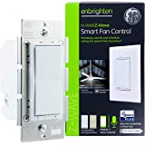 GE Enbrighten Z-Wave Plus Smart Fan Control, Works with Alexa, Google Assistant, 3-Way Compatible, ZWave Hub Required, Repeater/Range Extender, White & Light Almond, 14287