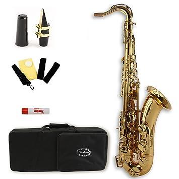 Conductor Tenor saxofón w/boquilla, funda y accesorios