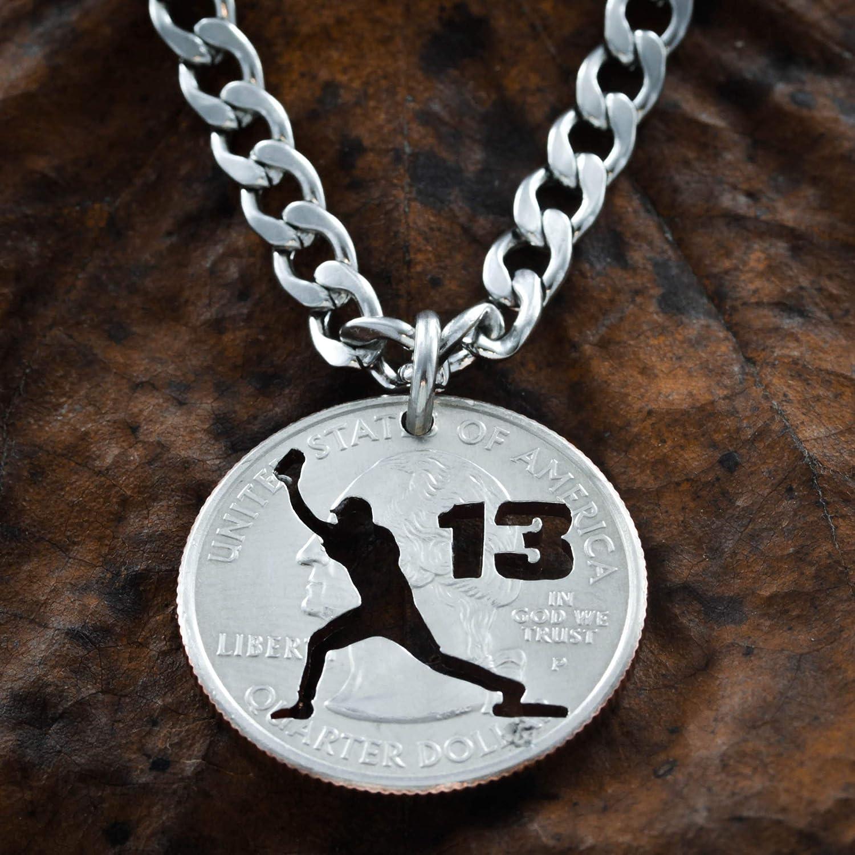 Baseball Gifts Softball Jewelry Baseball Necklace Personalized Softball gift