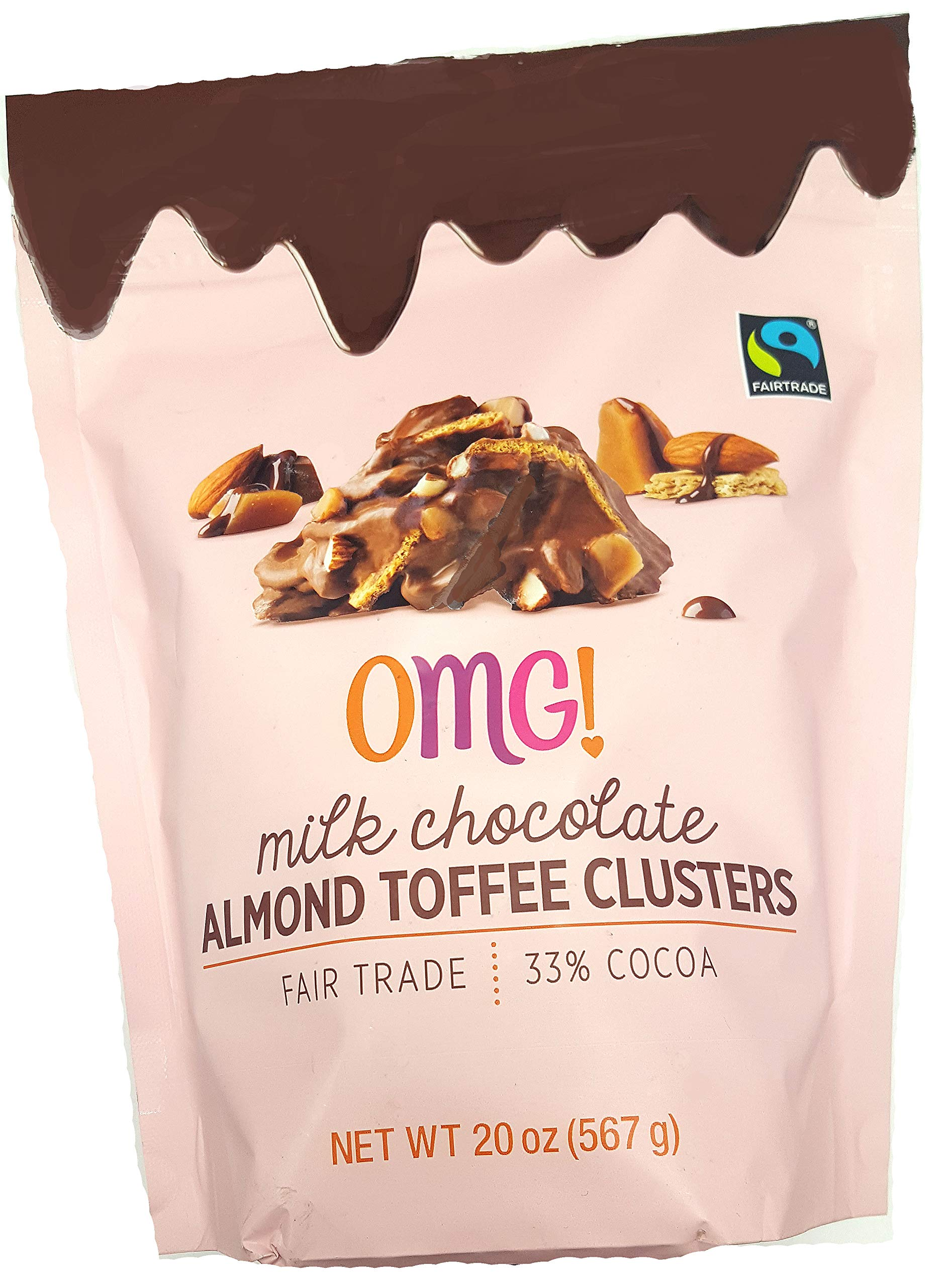 OMG MILK CHOCOLATE ALMOND TOFFEE CLUSTERS - 20oz by FCV