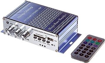 Heny Sheuy Mini Amplificateur Stéréo Haute Puissance Pour Mp3 Via