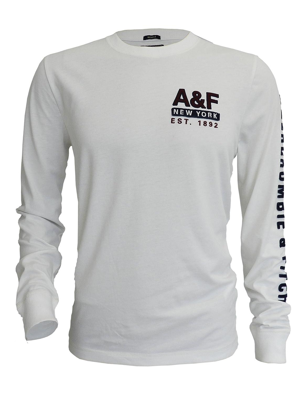 Abercrombie & Fitch - Camiseta de manga larga - para hombre Blanco ...