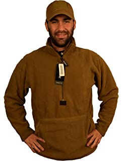 US Marine Issue Polar Tech Fleece Pull-Over Coyote Brown-NEW Unissued