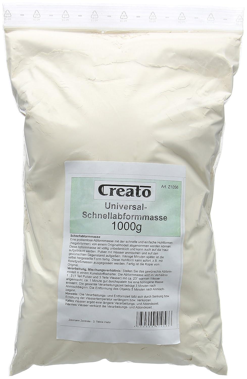 Creato Masa Rápida para moldear, alginato para moldear en Bolsa sintética, 1000Gramos Zitzmann Zentrale Z1056