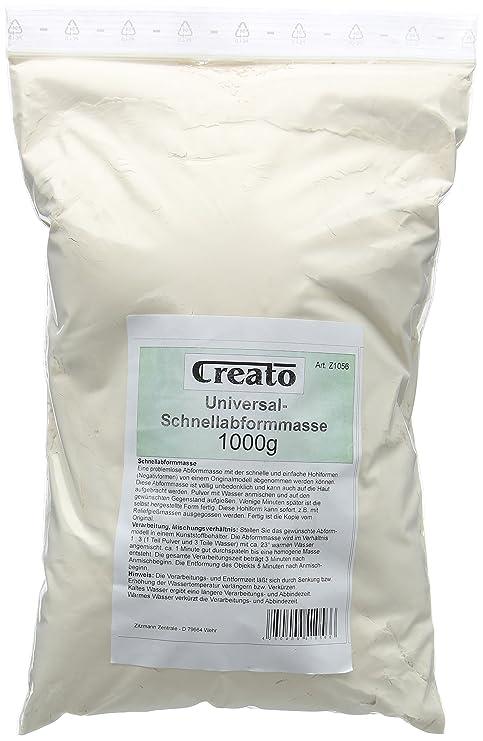 Creato Masa rápida para moldear, alginato para moldear en Bolsa sintética, 1000 Gramos