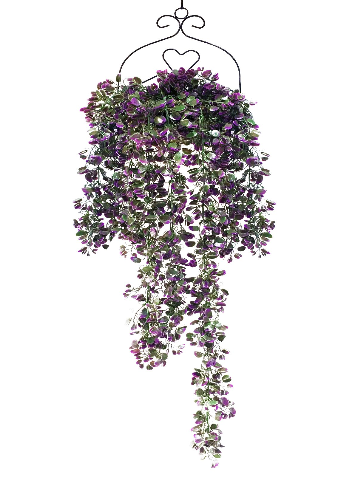 SHACOS Artificial Hanging Vine,Fake Ivy Greenery Rattan,Lush Butterfly Hanging Vine for Home Garden Wedding Décor (3.6 FT, Purple Butterfly Vine)