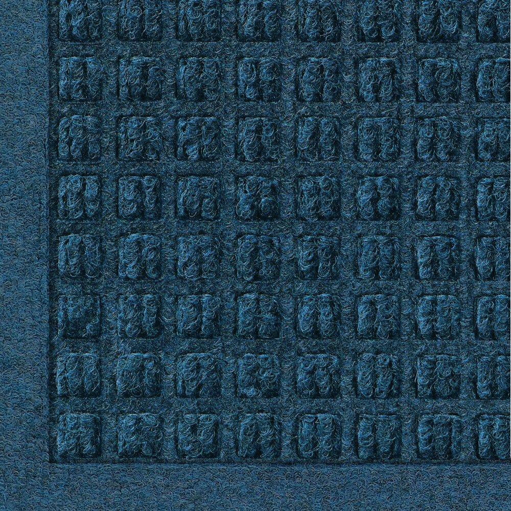 Andersen 280 WaterHog Fashion Polypropylene Fiber Entrance Indoor/Outdoor Floor Mat, SBR Rubber Backing, 8' Length x 6' Width, 3/8'' Thick, Navy
