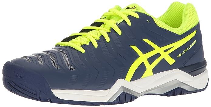 ASICS Men's Gel-Challenger 11 Tennis Shoe Indigo Blue/Safety Yellow/Silver 9 M US