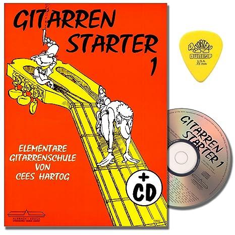 gitarrenstarter-band-1-gitarrenschule-mit-cd-fr-anfnger-von-cees-hartog-mit-original-dunlop-plek