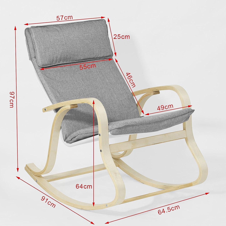 SoBuy FST15 DG Rocking Chair Fauteuil  bascule Fauteuil