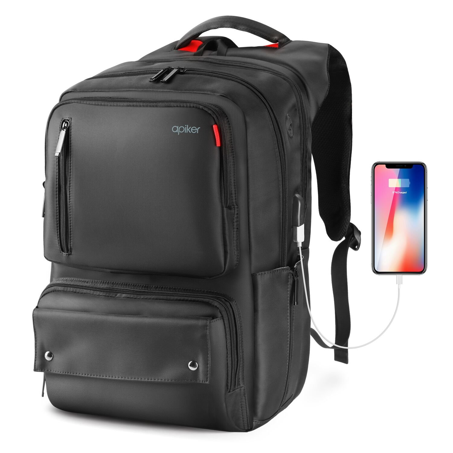 8a6a5b63ba Travel Laptop Backpack bag with USB Charging Port  Amazon.co.uk ...