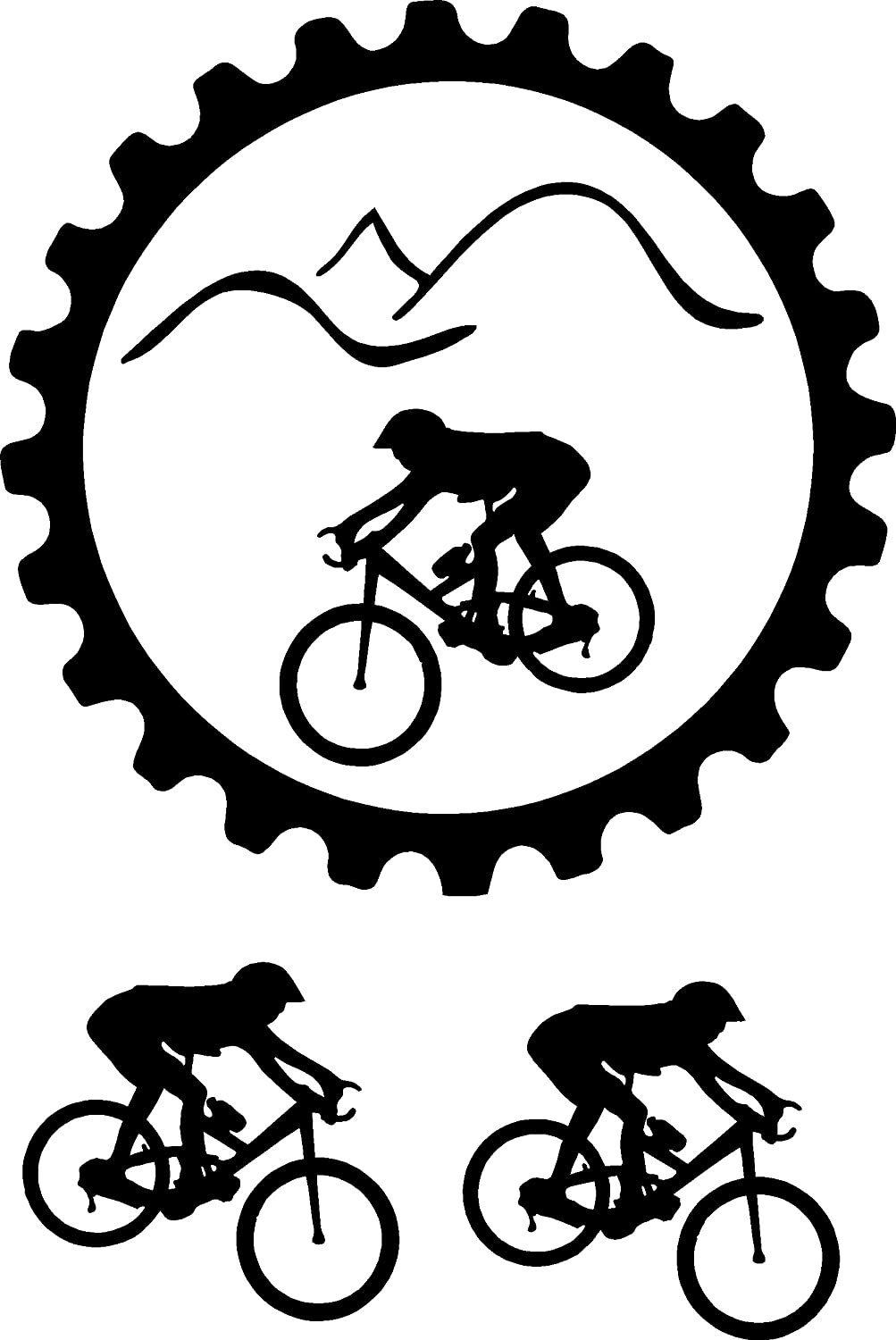 Amazon com mountain bike sticker decal with two more bikes available in all colors just message me everything else