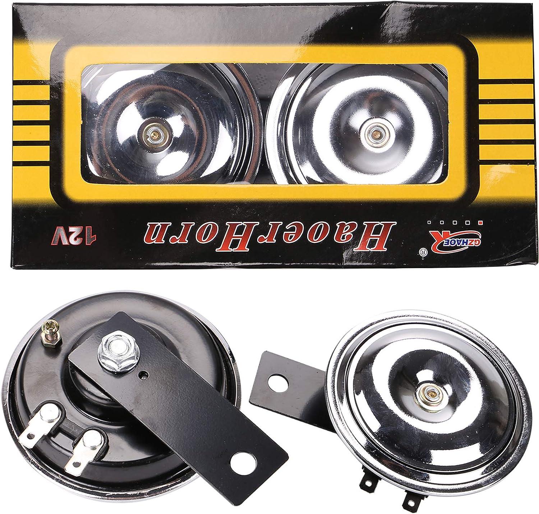 AllRight 1 Paar Hupe Signalhorn 12V 110/±5dB Druckluft Lautes Horn Doppelton Lautsprecher f/ür Fahrzeug Auto LKW PKW Van Boot Motorrad