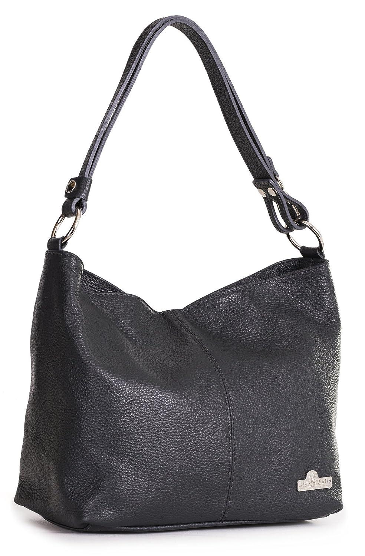 ca711f9129db Amazon.com  LIATALIA Womens Genuine Italian Leather Adjustable Strap Medium  Sized Shoulder Hobo Bag - EMMY  Black   Shoes