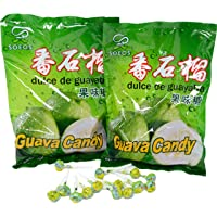 2-Pack Soeos Guava Candy, Hard Candy Approx.100 Lollipops