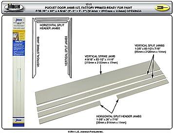door jamb diagram. Johnson Hardware Universal Pocket Door Jamb Kit 15103068 (for Painting) Diagram P