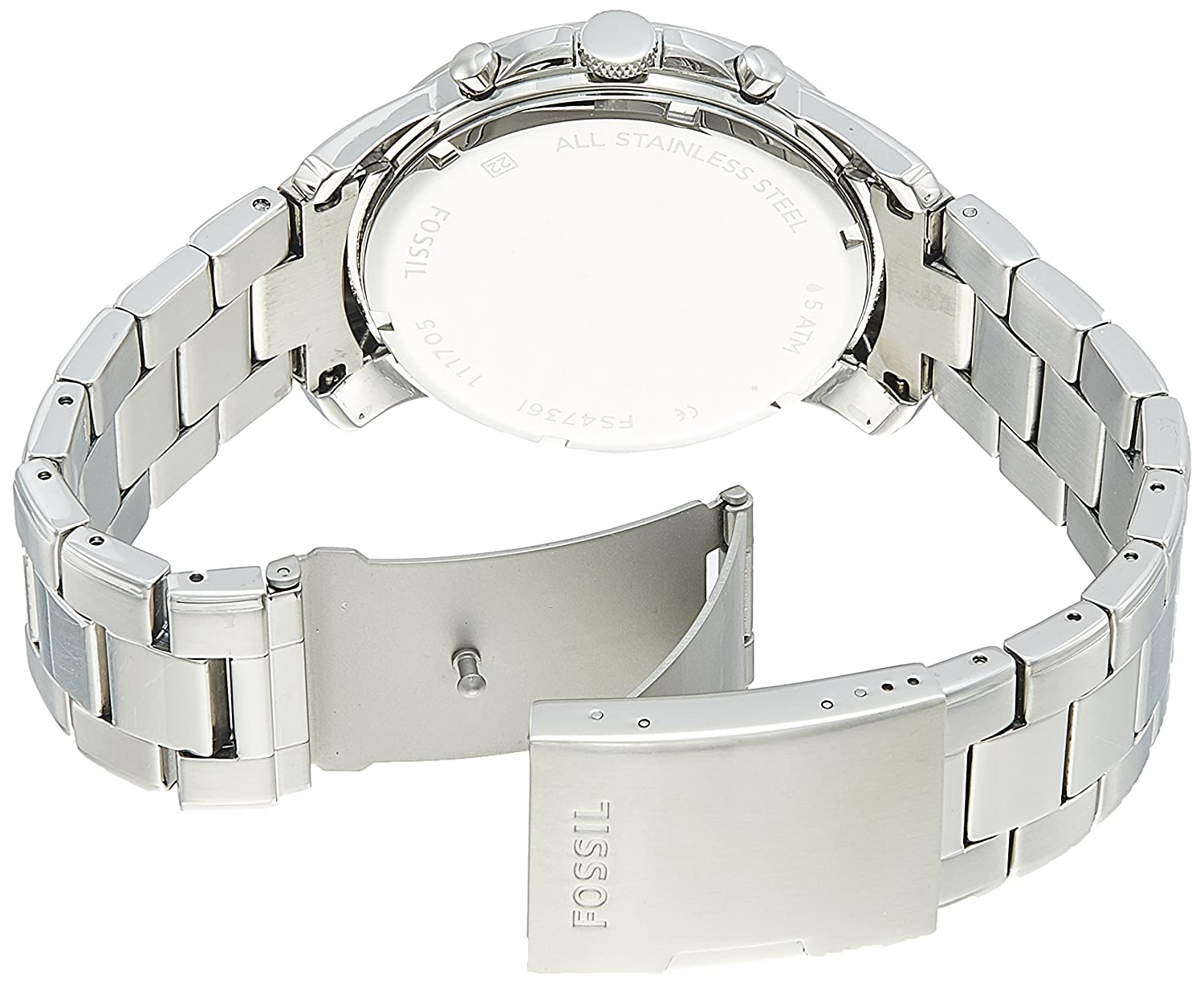 Fossil Mens Fs4736 Grant Stainless Steel Watch Watches