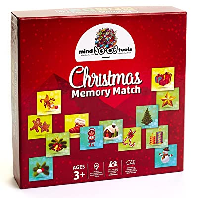 Mind Tools - Christmas Educational Memory Match Game for Toddler Preschool and Kids - Great Memory Matching Card Games for Recognition & Memory Skills Practice - 48 Durable Tiles: Toys & Games
