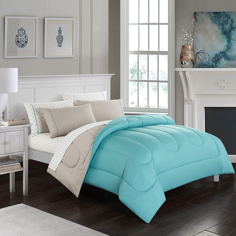 Casa Lightweight Comforter Set, Full, Teal