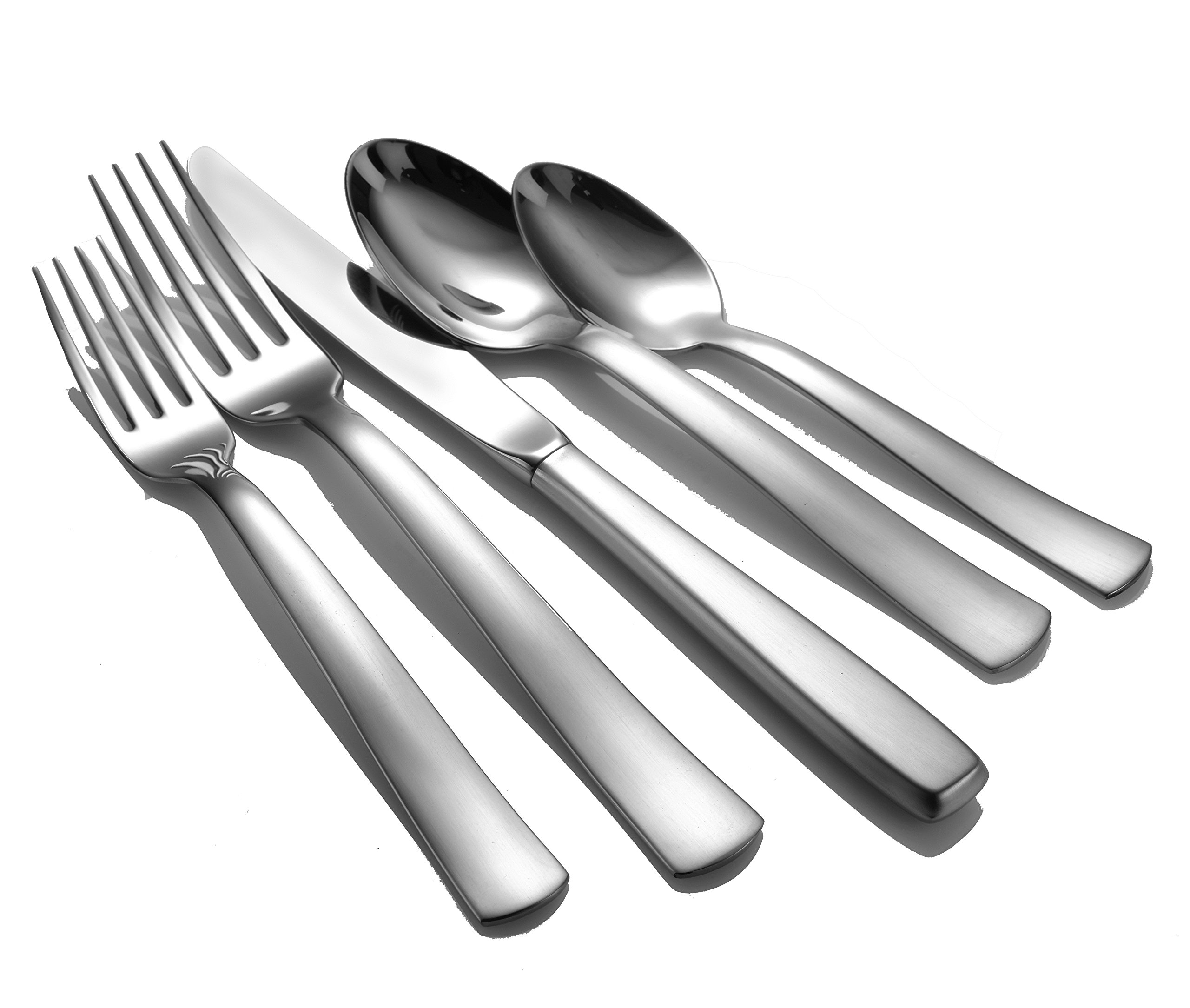 Liberty Tabletop Satin America 45-piece 18/10 Flatware Set for 8 Made in USA by Liberty Tabletop