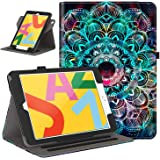 Retear Case for New iPad 8th Gen (2020) / 7th Generation (2019) 10.2 Inch - 360 Degree Rotating Smart PU Leather Stand Apple