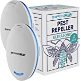 BRISON [2-Pack] Ultrasonic Pest Repeller Plug-in Control Electronic Insect Repellent Gets Rid Mosquito Bed Bugs Roach…