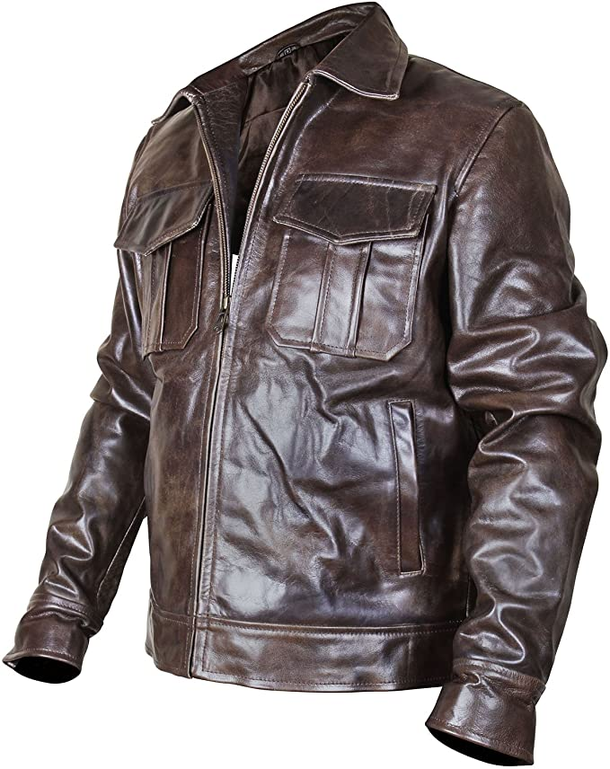f51da3f3861 Men s Copper Rub Off Classic Vintage Brown Distressed Real Leather Jacket  at Amazon Men s Clothing store