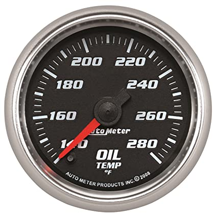 autometer 19640 pro cycle oil temperature gauge 2 1 16 in blackautometer 19640 pro cycle oil temperature gauge 2 1 16 in black