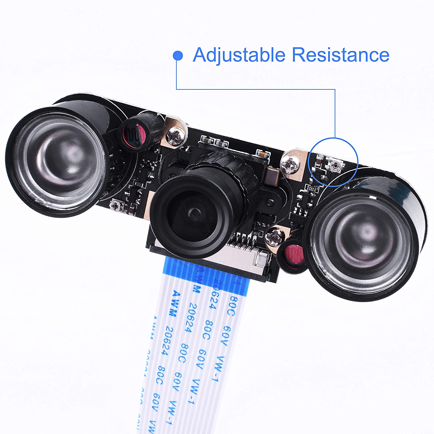 Kuman for Raspberry PI Camera Module 5MP 1080p OV5647 Sensor HD Video Webcam Supports Night Vision for All Vision Raspberry Pi model B/B+ A+ RPi 3/ 2 /1 /zero/ zero W with FFC/ FPC Cable SC15-1 SC15-1-US