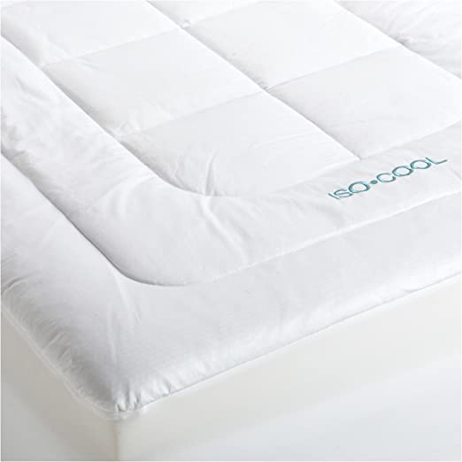 Amazon Com Iso Cool Memory Foam Mattress Topper With Outlast