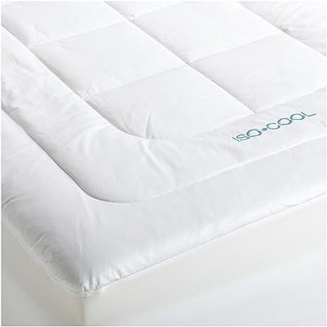 sleepbetter isocool memory foam mattress topper with outlast cover queen