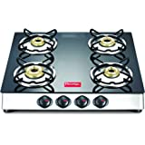 Prestige 40279 Marvel Plus Stainless Steel 4 Burner Gas Stove (Black)