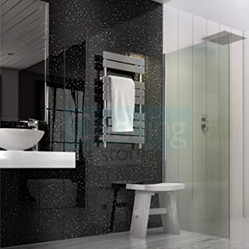 12 X White Diamond//Gloss Grey Sparkle Wall Cladding PVC Bathroom Ceiling Panels