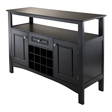 Winsome Wood 20745 Jasper Buffet, Black