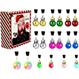 Christmas Beard Lights Ornaments,18Pcs Santa Beard Beads Bauble Ornaments Decorations for Tree,Great Christmas and New Year F