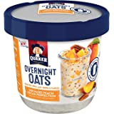 Quaker Overnight Breakfast Cereal Oats, Orchard Peach Pecan Perfection, 2.57 Ounce