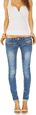 bestyledberlin dżinsy damskie, spodnie, jeansy biodrowe j03i: Odzież