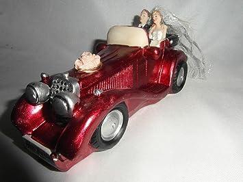 1 Brautpaar Im Auto Nr 10985 Deko Hochzeit Tortendeko Tortenaufsatz