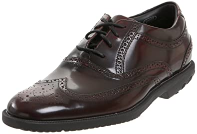 Rockport Men's Dressport Wingtip Oxford-Burgundy Brush Off-7.5 M