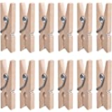 eBoot 100 Pieces 1 Inch Mini Wooden Photo Paper Peg Pin Clothespin Craft Clips