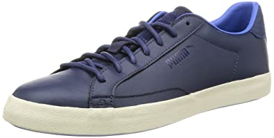 Puma Men's Match Vulc Citi Peacoat, Blue Yonder and Birch Leather Sneakers  - 8 UK