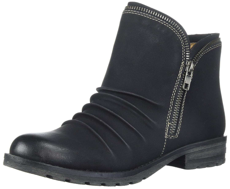 NATURAL SOUL Women's Brisha Ankle Boot B076DJC72C 8.5 B(M) US|Black