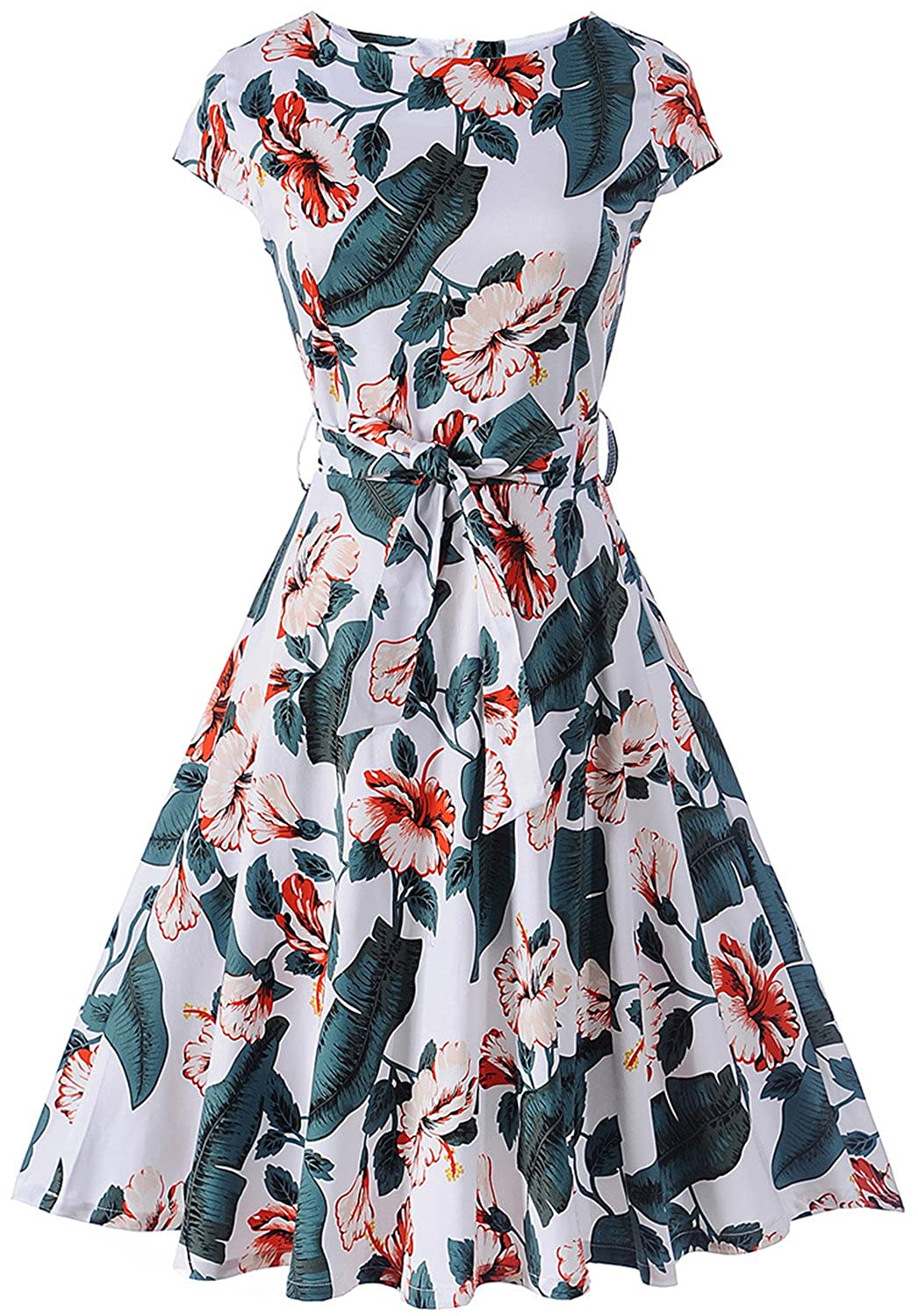 498c739f475d9 Features: Cap-Sleeve & Full Circle Flared Skirt, Concealed Zipper At Back,  , Comes With a Removable Sash. The a Line Dress Is ...