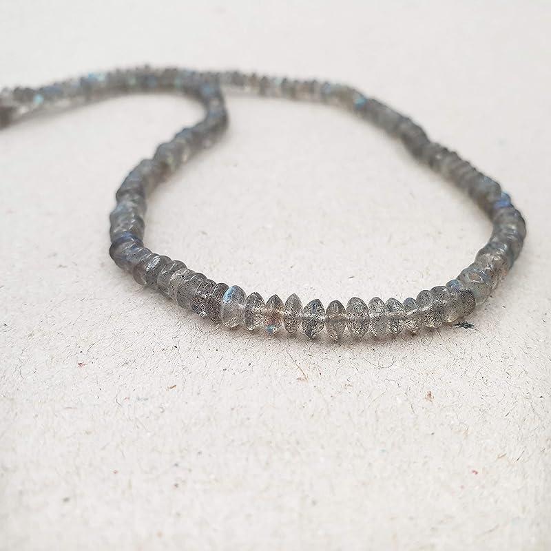 Beaded Necklace Short Necklace Pendant Necklace Beaded Labradorite Emerald Necklace