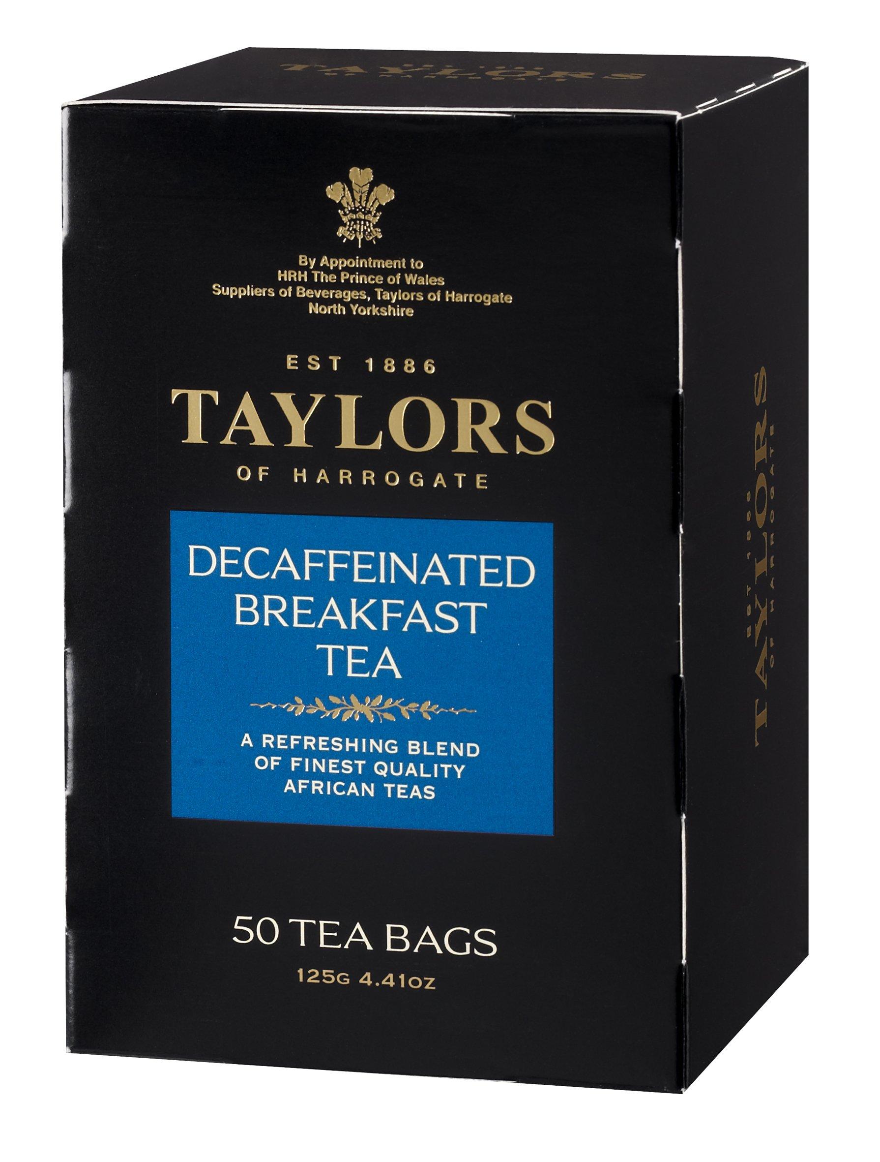 Taylors of Harrogate Decaffeinated Breakfast, 50 Teabags
