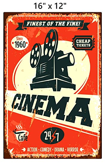 Amazon.com: UNiQ Designs Cinema - Placa metálica ...